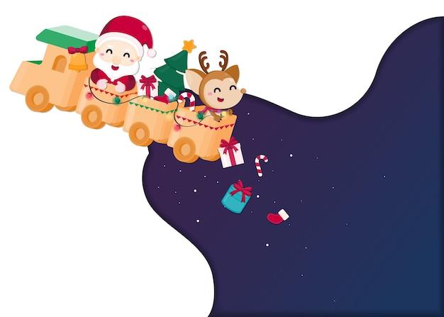 Modèle de fête de noël. carte de voeux pour noël et bonne année.
