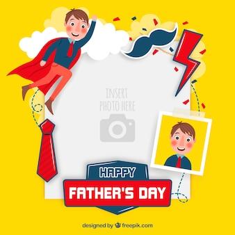 Modèle de fête des pères pour coller l'image