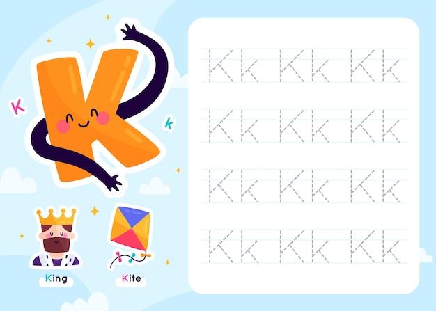 Modèle de feuille de calcul lettre k