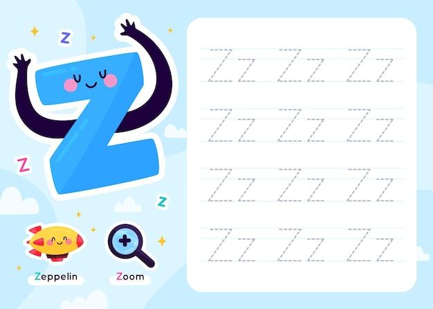 Modèle de feuille de calcul lettre z