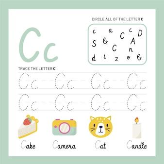 Modèle de feuille de calcul lettre c