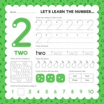 Modèle de feuille de calcul numéro 2