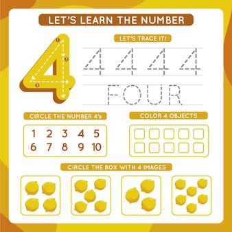 Modèle De Feuille De Calcul Numéro 4 Vecteur gratuit