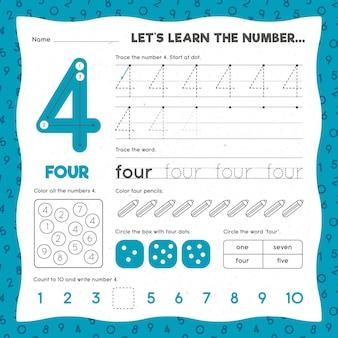 Modèle de feuille de calcul numéro 4