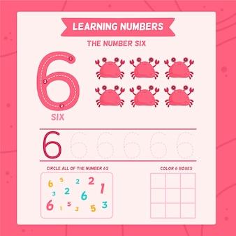 Modèle de feuille de calcul numéro 6