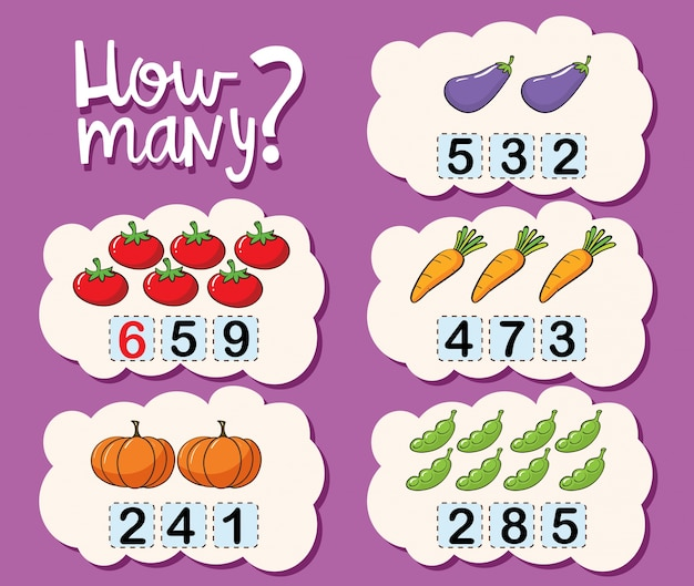 Modèle de feuille de calcul pour compter le nombre