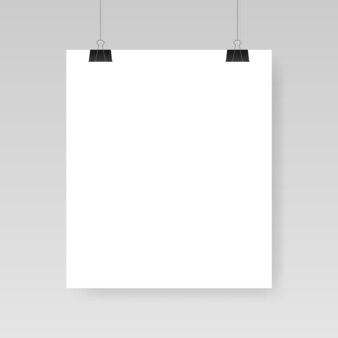 Modèle de feuille de papier blanc vierge.