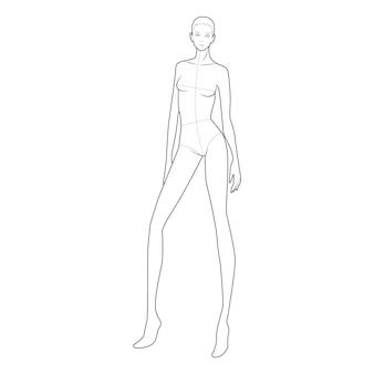 Modèle de figure de corps de mode