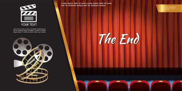 Modèle de film de cinéma