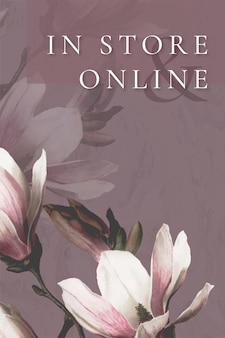Modèle de fleur de printemps pour les achats en ligne