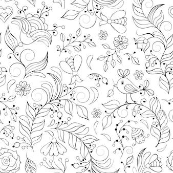 Modèle avec fleurs abstraites
