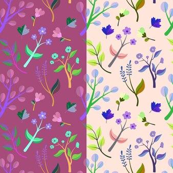 Modèle avec des fleurs