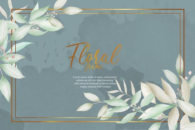Modèle floral arrangement aquarelle