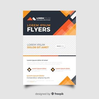 Modèle de flyer abstrait affaires dans les tons orange