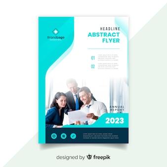 Modèle de flyer abstrait affaires avec photo