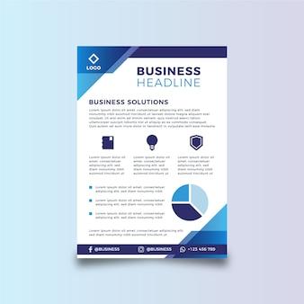 Modèle de flyer abstrait affaires