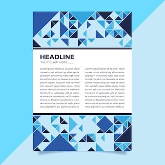 Modèle de flyer abstrait bleu classique
