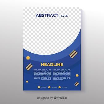 Modèle de flyer abstrait photographique