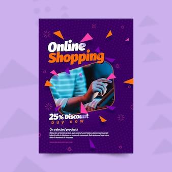 Modèle de flyer d'achat en ligne