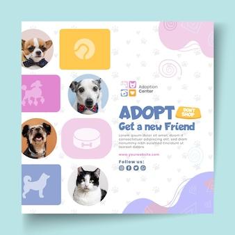 Modèle de flyer d'adoption d'animaux de compagnie