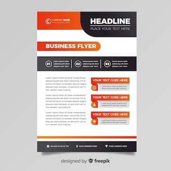 Modèle de flyer d'affaires abstrait coloré