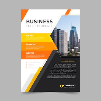 Modèle de flyer d'affaires abstrait
