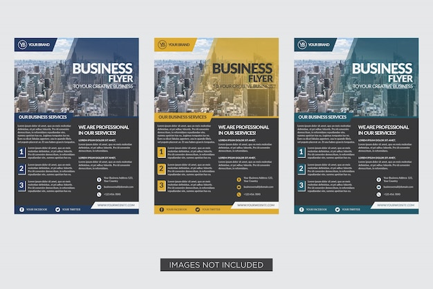 Modèle de flyer d'affaires design élégant