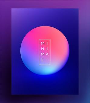 Modèle de flyer affiche minimaliste pour le festival de musique électronique. .