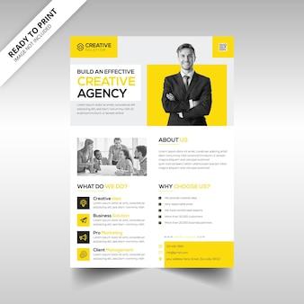 Modèle de flyer d'agence de création et d'entreprise