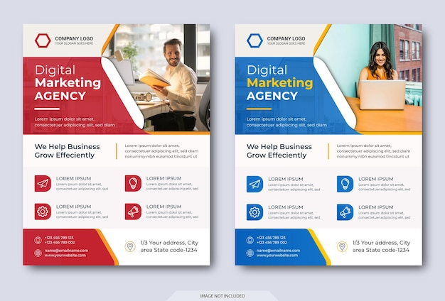 Modèle de flyer d'agence de marketing numérique moderne