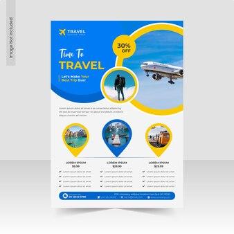 Modèle de flyer d'agence de voyages et d'agences de voyages explorez le monde