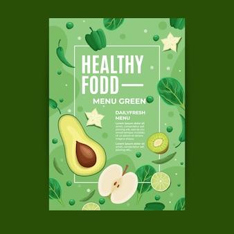 Modèle de flyer des aliments sains
