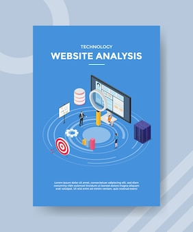 Modèle de flyer d'analyse de site web technologique