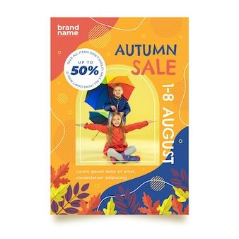 Modèle de flyer automne vertical avec photo