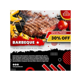 Modèle de flyer barbecue