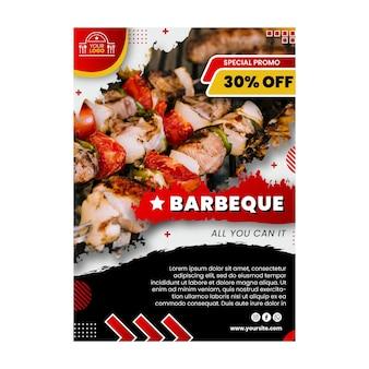 Modèle de flyer barbecue