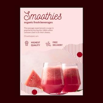 Modèle de flyer de barre de smoothies