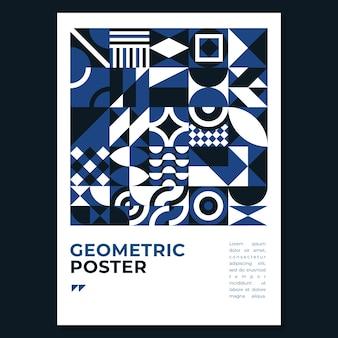 Modèle de flyer bleu classique abstrait
