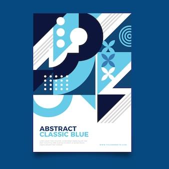 Modèle de flyer bleu classique de papeterie