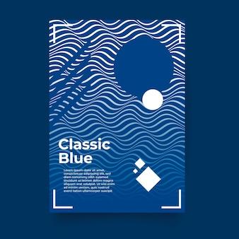 Modèle de flyer bleu classique