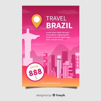 Modèle de flyer brésil