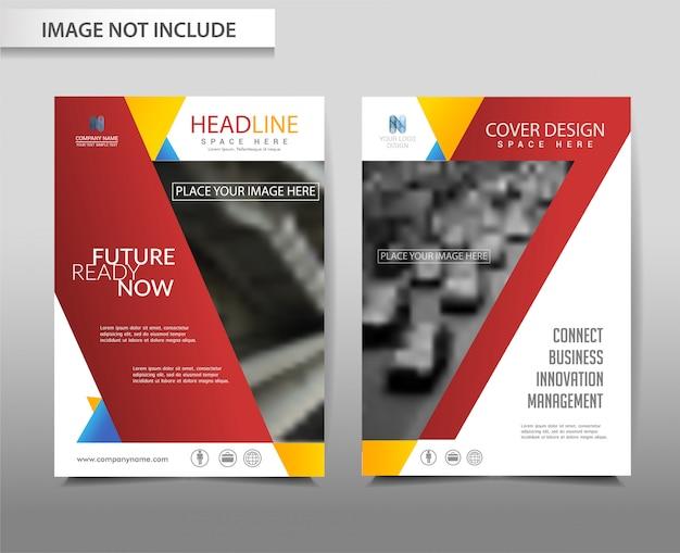 Modèle de flyer brochure vecteur abstrait