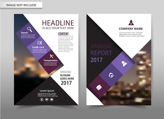 Modèle de flyer brochure vector