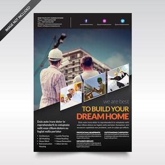 Modèle de flyer ou de brochure
