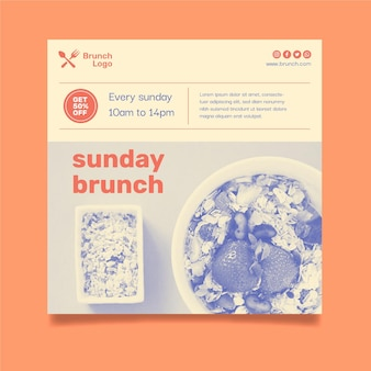 Modèle de flyer de brunch