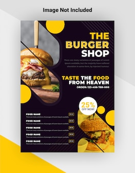Modèle de flyer de burger shop