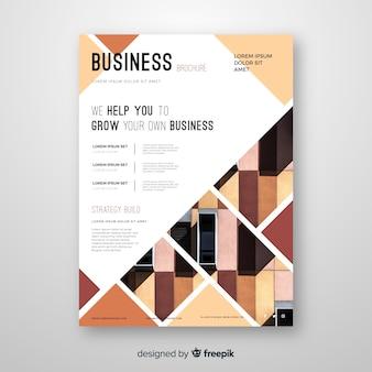 Modèle de flyer business crème mosaïque nuances