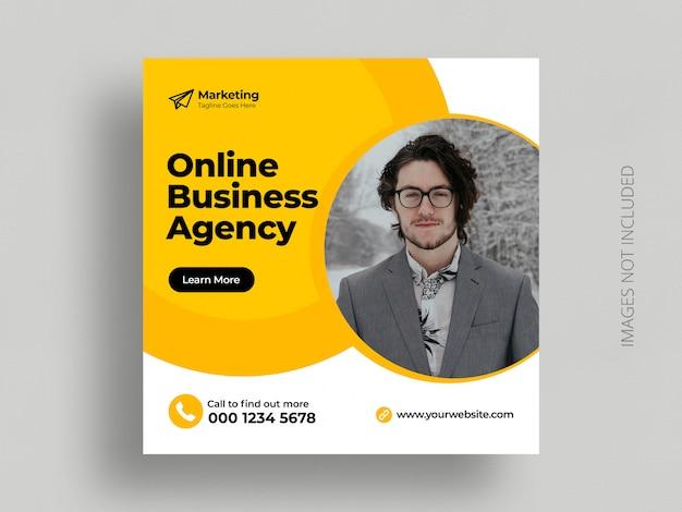 Modèle de flyer carré bannière marketing numérique des médias sociaux