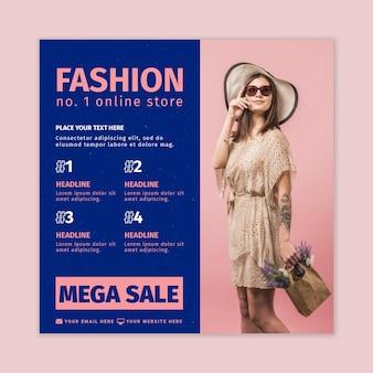 Modèle de flyer carré de boutique en ligne