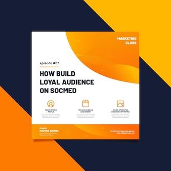 Modèle de flyer carré conseils marketing
